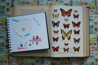 collage book dictionary pages butterflies brooke gibbons art