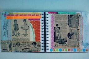 collage journal_ephemera page art brooke gibbons
