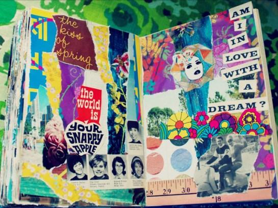 vintage collage art journal ephemera brooke gibbons