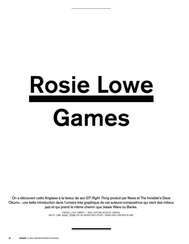 Rosie Lowe – Modzik Magazine