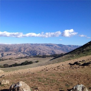 mountain vista of valley below