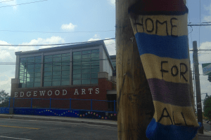 Edgewood Arts + yarn bombing