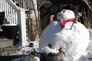 Cute snowman on 12th Street
