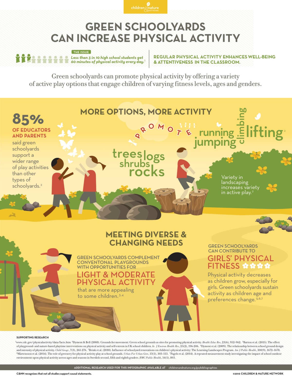 Green Schoolyards and Physical Activity