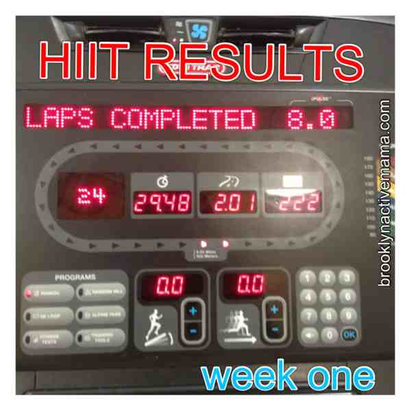 HIIT Results – Week One