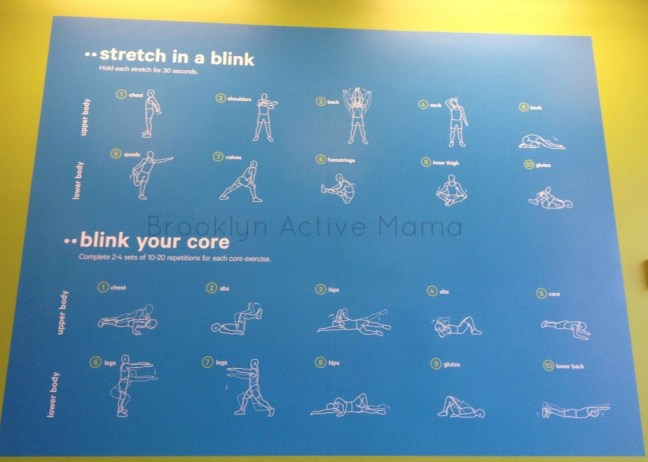 blink fitness stretching area