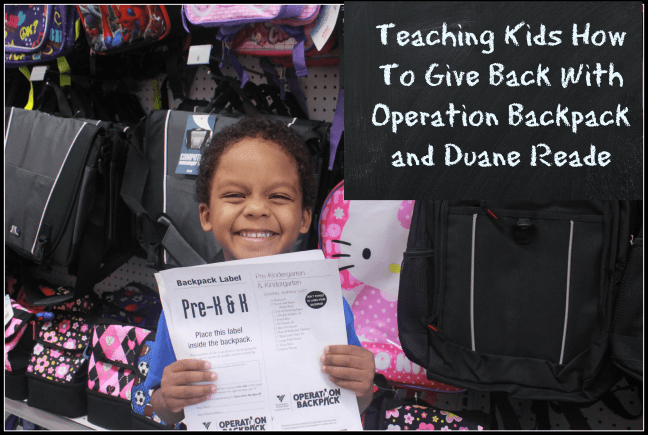 duane reade operation backpack