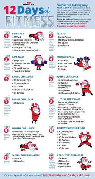 The 12 Days Of Fitness Challenge!