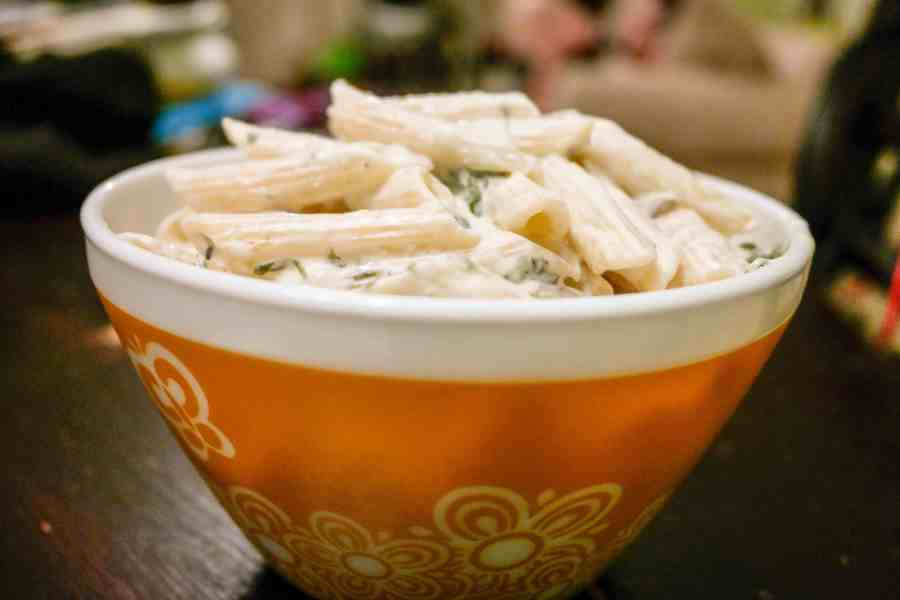 Spinach And Artichoke Creamy Penne Pasta Recipe-8650