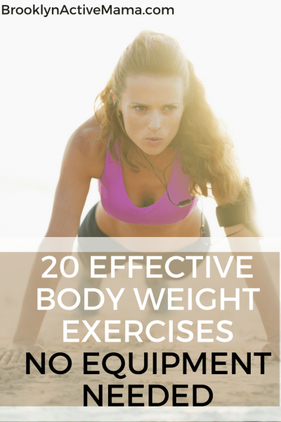 Looking for a no cost way to start your exercise routine? Check out 20 Effective Body Weight Exercises -- No Equipment Needed