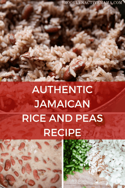 Delicious Authentic Jamaican Rice and Peas Recipe made with coconut milk, allspice, scallions and more! I've tried many recipes but this one is the best hands down!