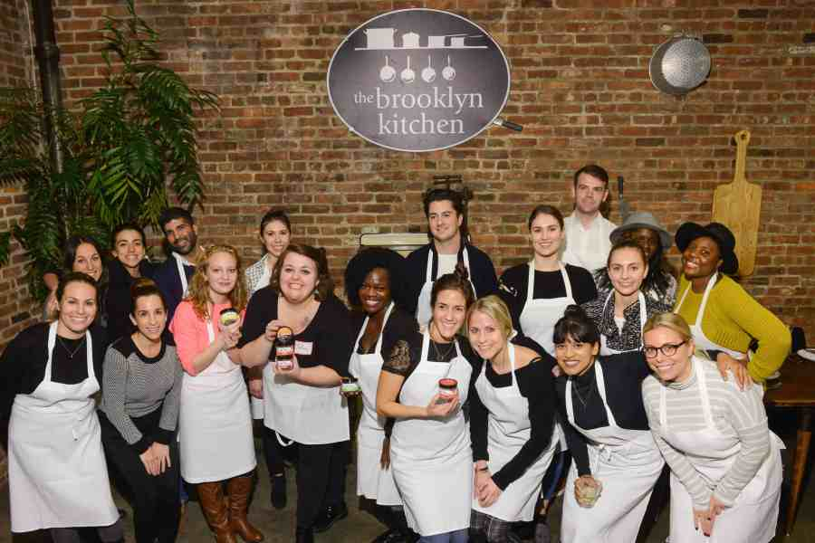 "A ""BOU Friendsgiving"" cooking class was held at Brooklyn Kitchen on Tuesday, November 7, 2017. Photograph by Casey Kelbaugh"