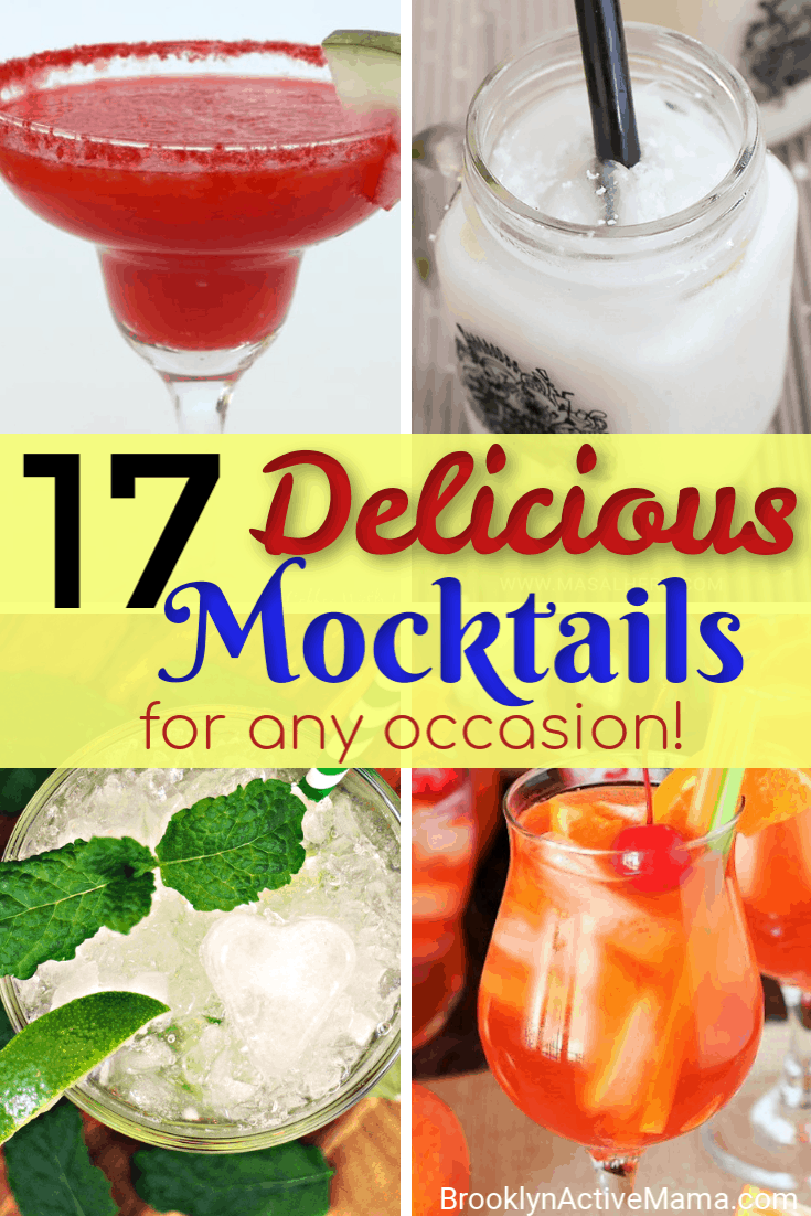 Looking for some amazing and delicious non alcoholic beverages? Check out these 17 awesome and delicious mocktails for any occasion. These are perfect for kids parties, non drinkers and expectant mothers! #mocktails #partydrinks #hosting