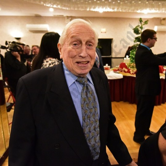 Temple Sholom Past President, Ritual Vice President and honoree Hy Bogatch. - Brooklyn Archive