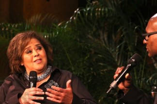 Playwrite and actress Anna Deavere Smith chats with journalist Charles Blow. - Brooklyn Archive