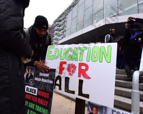 Competing Rallies at Medgar Evers College 04/03/2018 - Brooklyn Archive