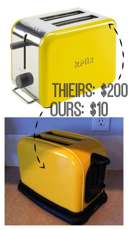 How to Add Some Color To Your Kitchen - DIY Yellow Toaster