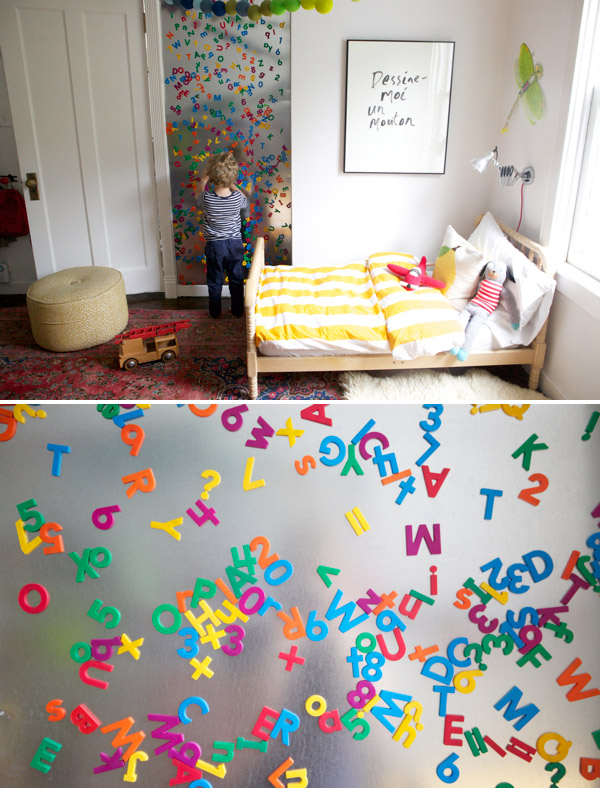 Kids Room with Magnet Wall