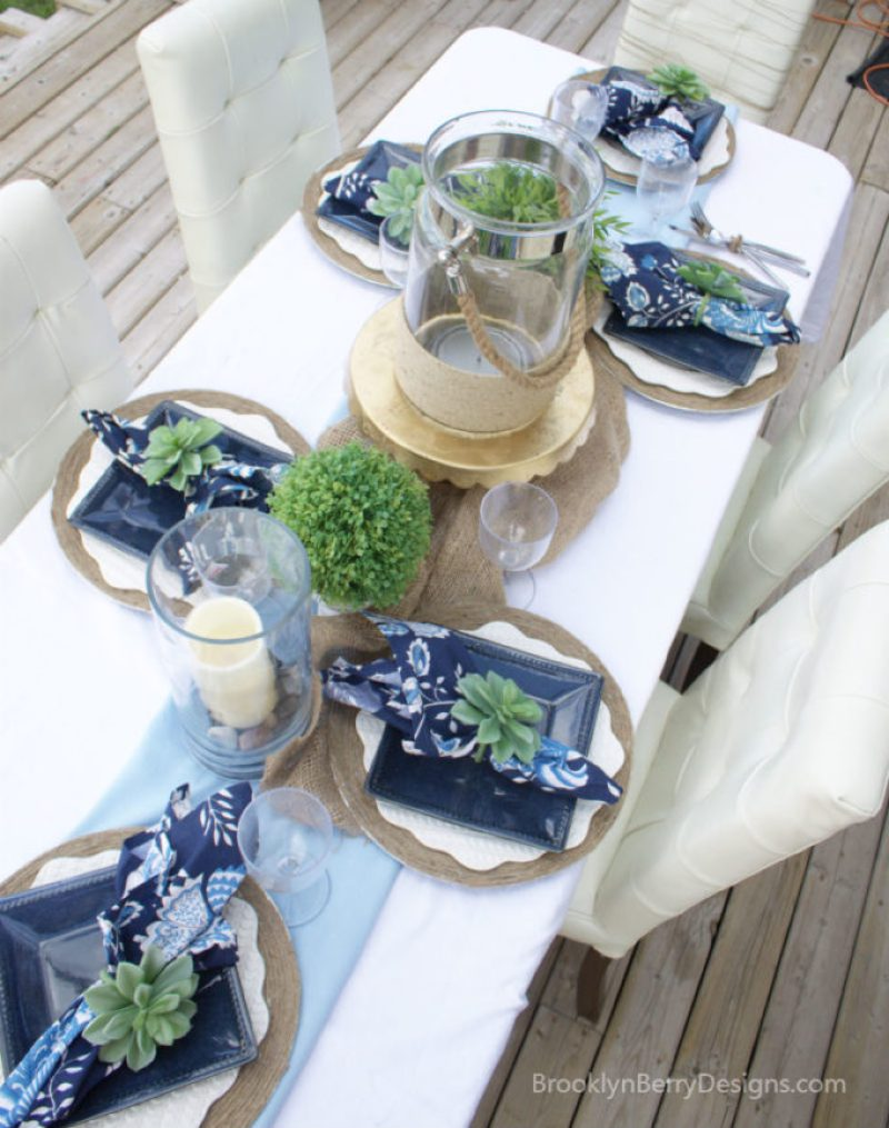 I love these colors for a fun spring or summer dinner party