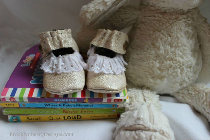 Gold Leather Baby Shoes