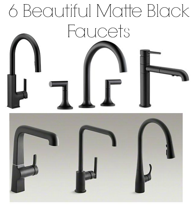 matte black faucets