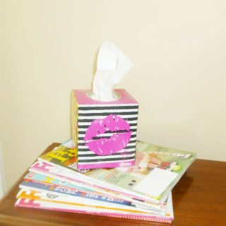 Kleenex Box Crafts: Locker Magnet  #KleenexBetseyStyle