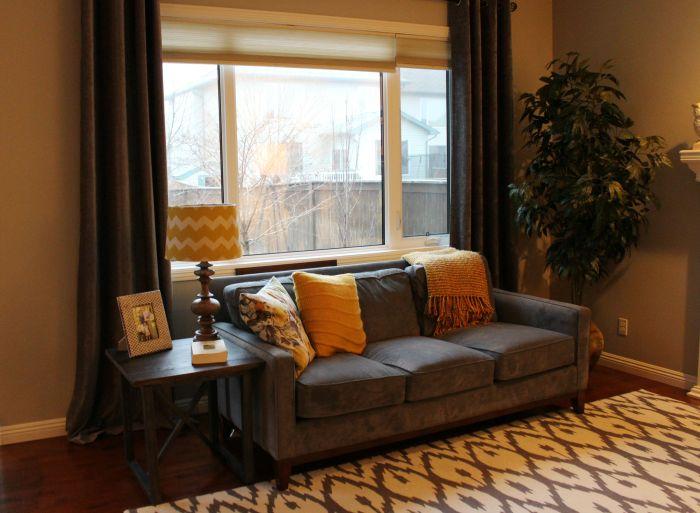 Grey Gold Living Room Edesign