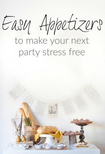 Easy Appetizers for a stress free party - let your guests build their own canapes using Boursin cheese and a variety of other toppings.