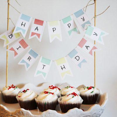 Printable Birthday Cake Banner