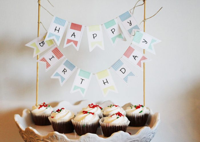 Magnificent Printable Birthday Cake Banner Brooklyn Berry Designs Funny Birthday Cards Online Barepcheapnameinfo