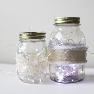 Mason Jar Fairy Lights #12MonthsofDIY