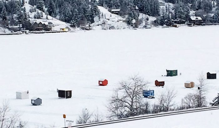 Ice Fishing in Invermere, British Columbia