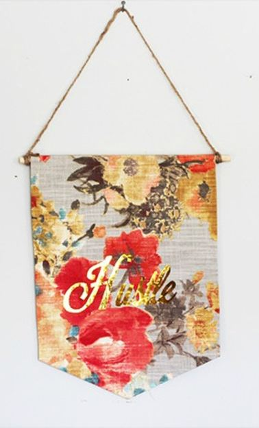 No Sew Fabric Banner