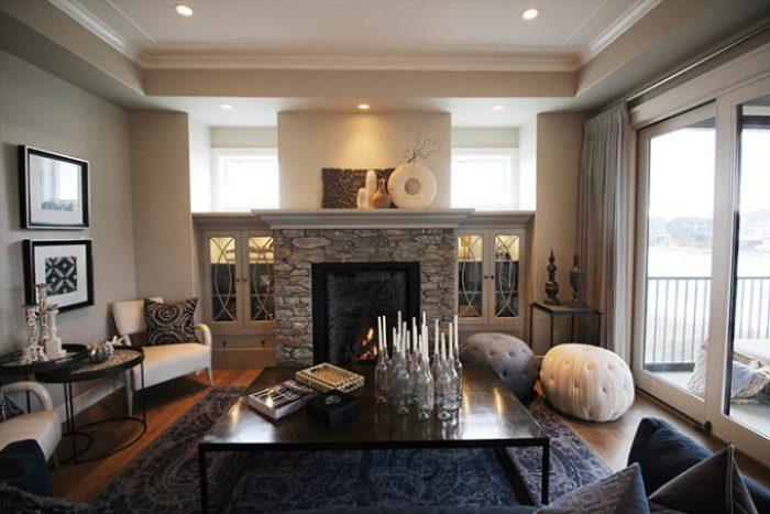 Luxury Lake House Fireplace