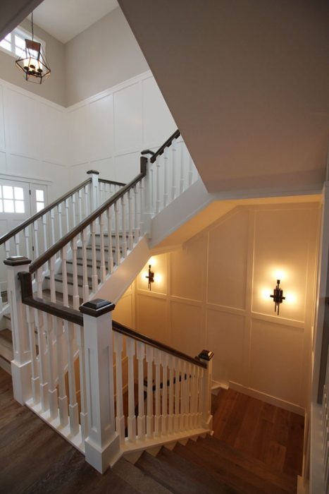 Board and Batten Entry Stairwell