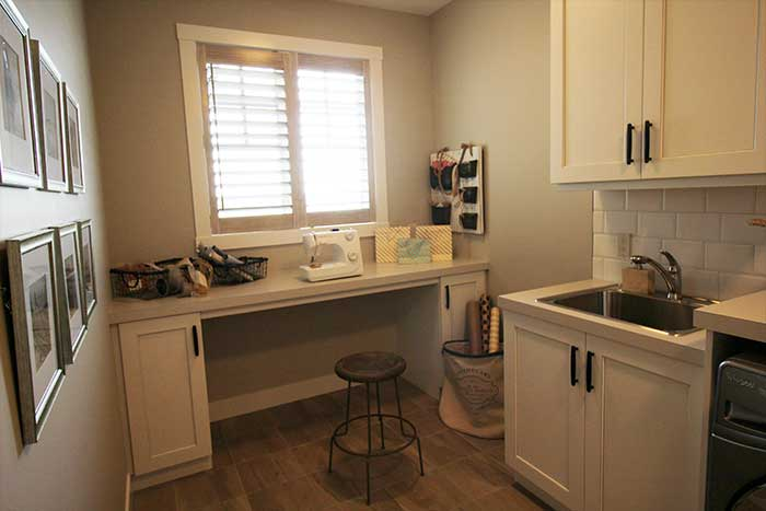 Luxury Lake House Laundry and Sewing Room
