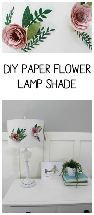 DIY Paper flower lamp shade - so simple and easy! |Brooklyn Berry Designs|