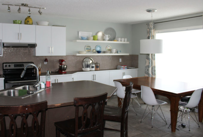Modern Kitchen Brooklyn Diy Shiplap Island Trim Before And After Brooklyn Berry Designs