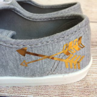 Personalized Shoes Back To School Gear #12monthsofDIY