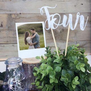 DIY Wedding Table Number