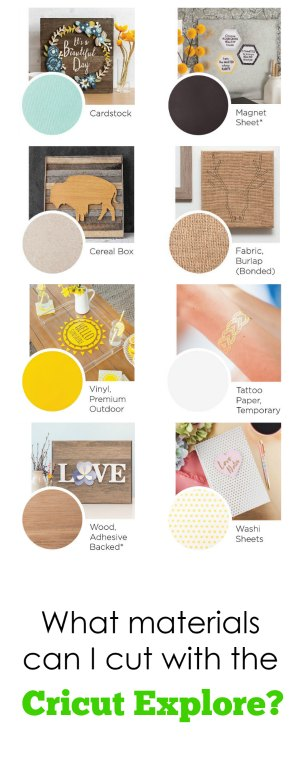 Cricut Explore Materials