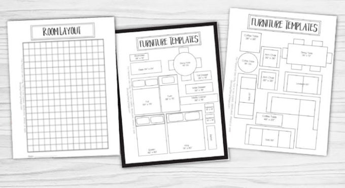 graphic relating to Printable Furniture Templates titled Cost-free Printable Area Planner - Brooklyn Berry Options