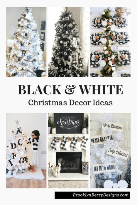 Black and White Christmas Tree Decor Ideas