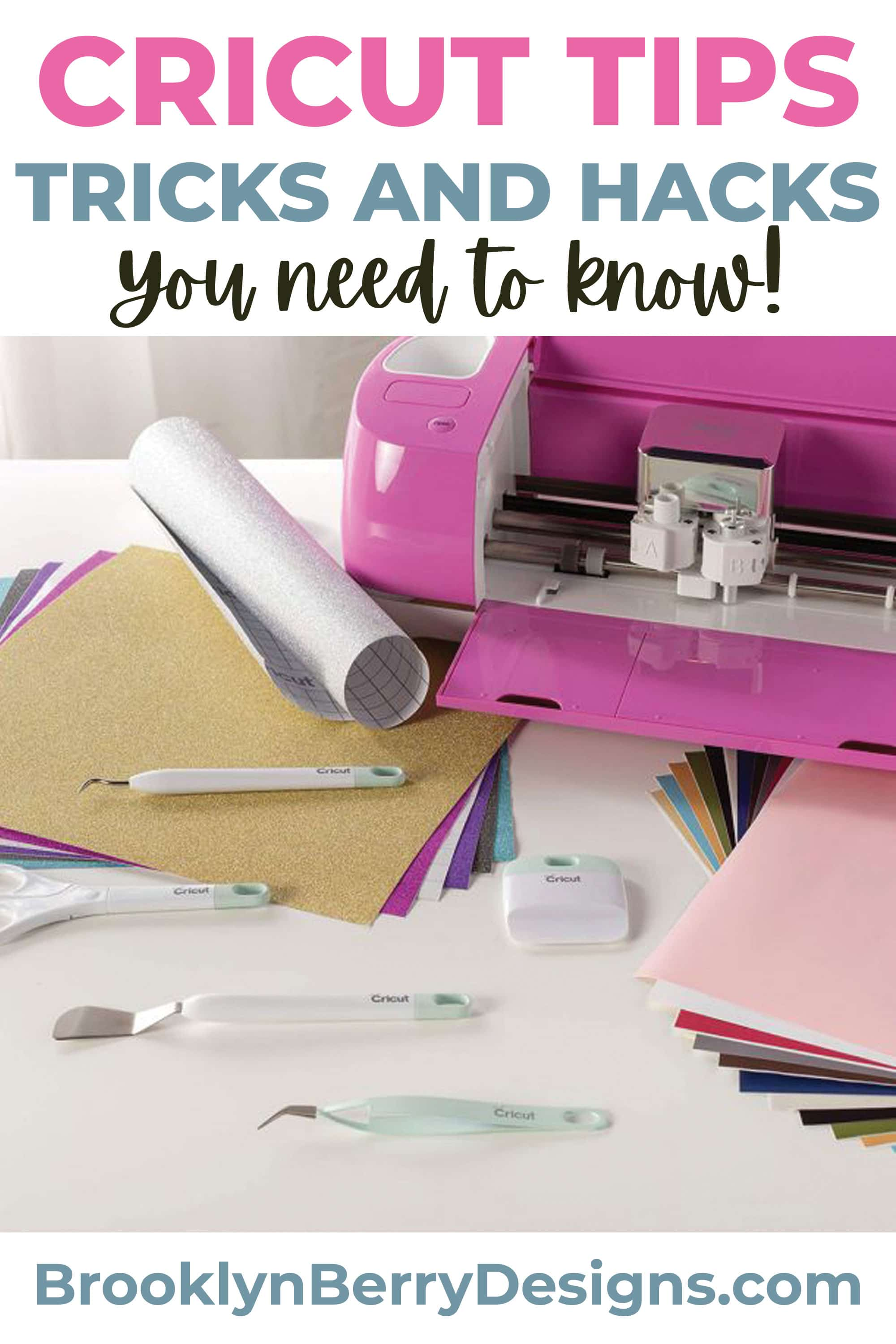Cricut tips, tricks, and hacks - what you need to know for beginner cricut users. via @brookeberry