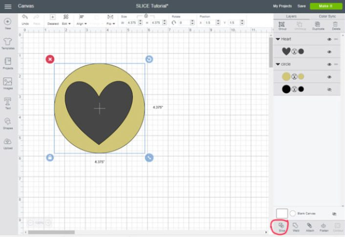 Cricut Design Space Slice Tool Tutorial Brooklyn Berry Designs