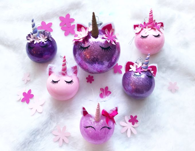 These adorable unicorn ornaments are so cute and make for great gifts - under $5!
