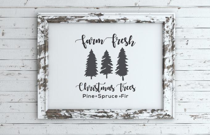 Hallmark Christmas Shirt Svg.Farm Fresh Christmas Tree Sign Free Svg Files Brooklyn