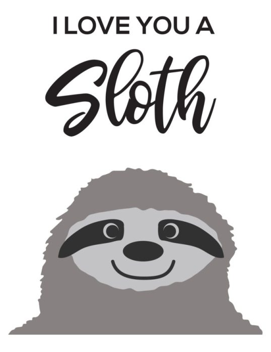 I Love You A Sloth Svg Brooklyn Berry Designs