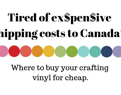 Where to buy craft vinyl in Canada