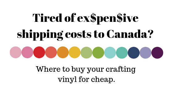 Best place to buy craft vinyl in Canada